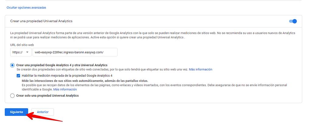 cuenta universal google analytics