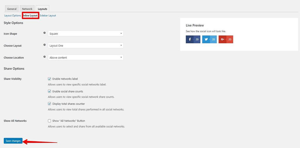 diseño en linea easy social sharing
