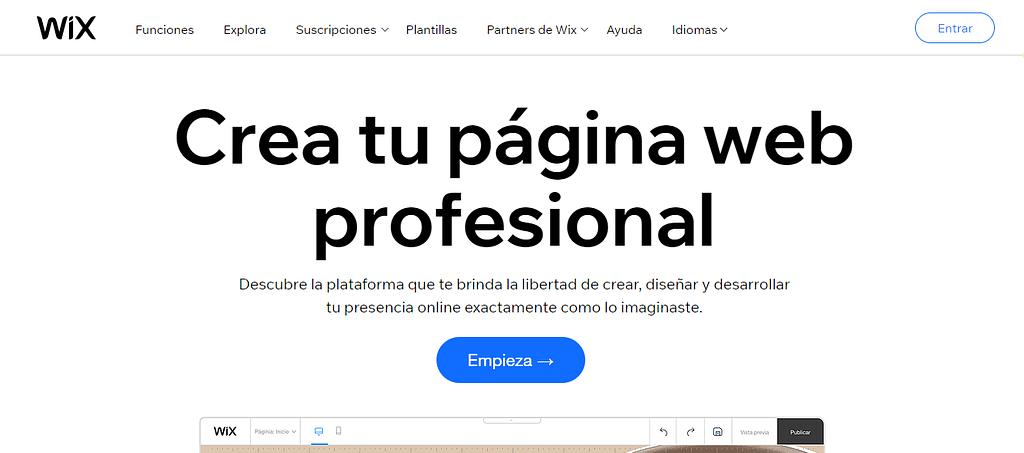 pagina wix