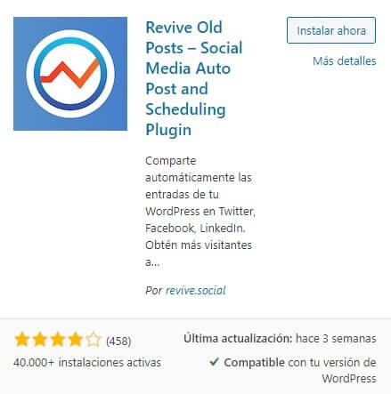 plugin revive old post