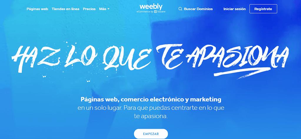 pagina de weebly