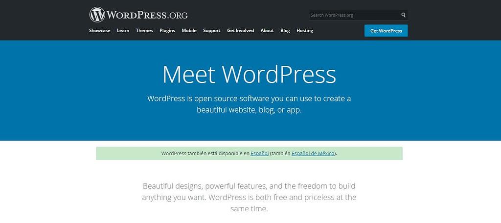 pagina oficial de wordpress