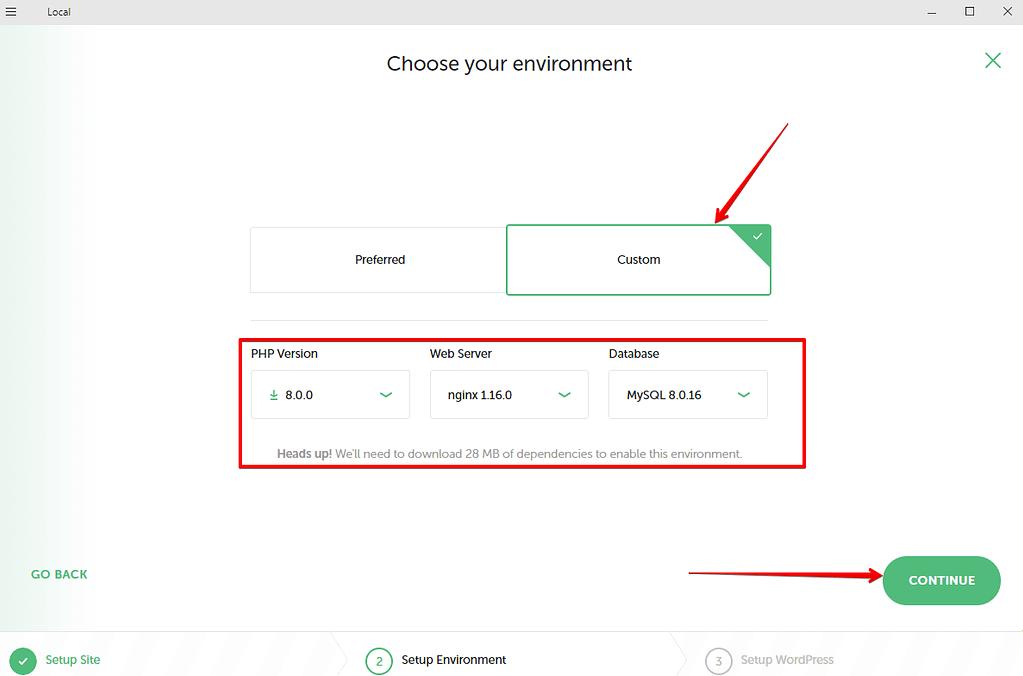 configurar entorno en localWP