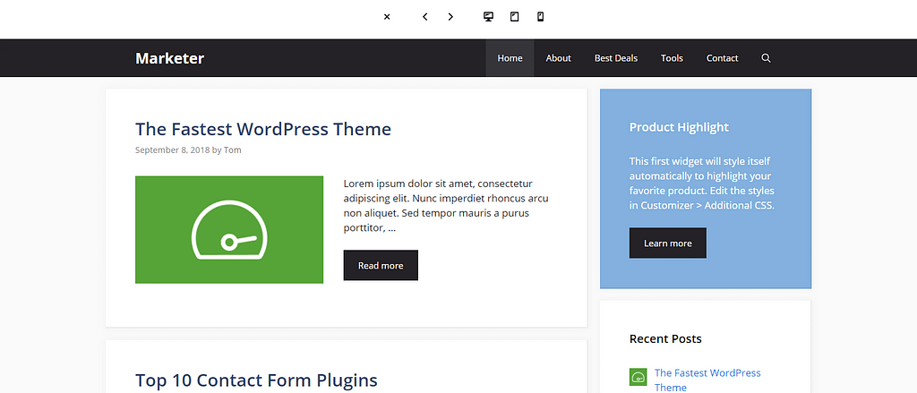 tema generatepress wordpress