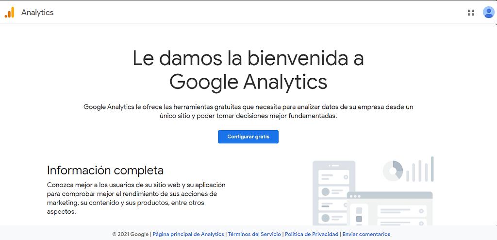 pagina oficial google analytics