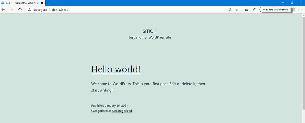 wordpress con localWP